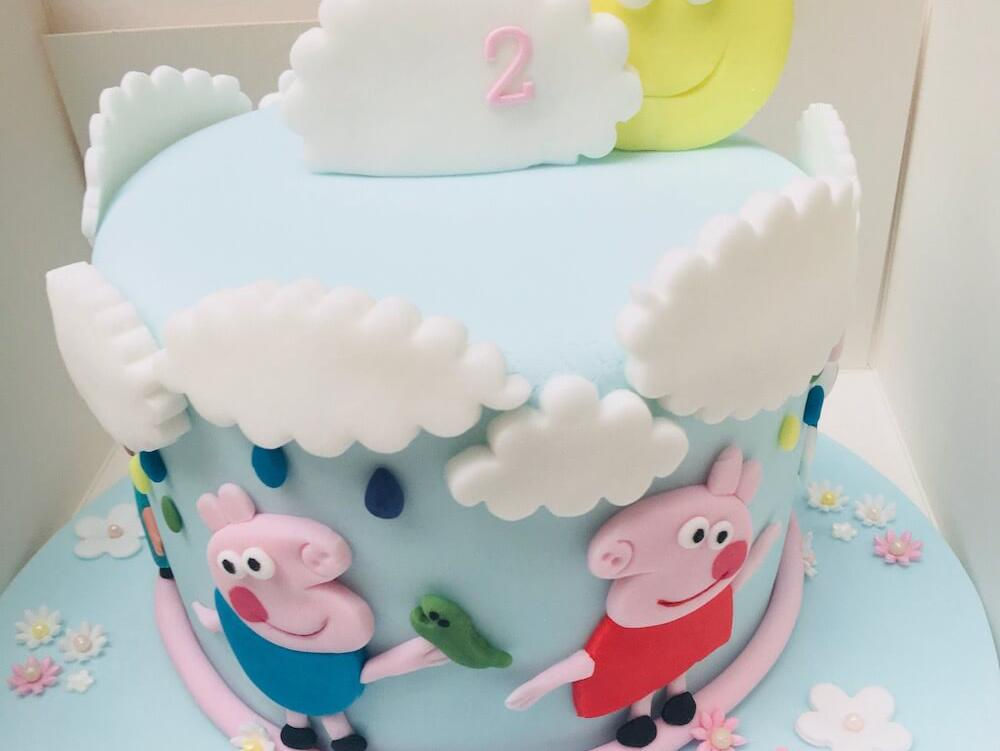 Custom Made Peppa Pig Birthday Cake