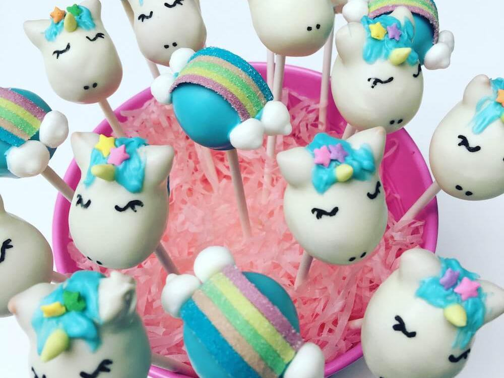 Unicorn Cake Pops - Bespoke from Bakealicious Cakes
